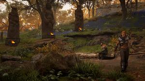 Landscape Assassins Creed Valhalla Trees Eivor Vikings 2523x1439 wallpaper