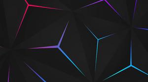 Abstract 4K Digital Art Shapes Geometry Neon Lines Artwork 3840x2400 Wallpaper