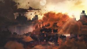 Artwork City Cityscape 3070x1920 Wallpaper