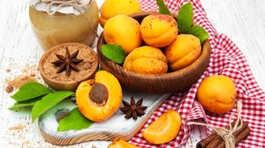 Apricot Cinnamon Fruit Star Anise 2936x2541 Wallpaper