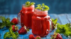 Drink Strawberry Berry Fruit 2000x1333 Wallpaper