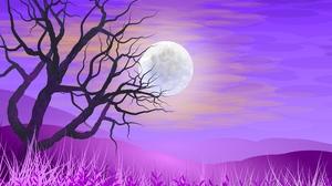 Silhouette Full Moon Pink 2560x1600 Wallpaper