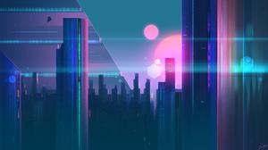 Sci Fi City 2560x1440 Wallpaper