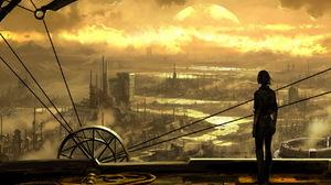 City Cityscape Futuristic Landscape 1280x1024 Wallpaper