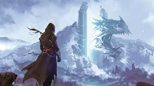Artwork Fantasy Art Dragon Portal 2560x2274 Wallpaper