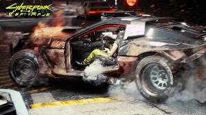 Cyberpunk Cyberpunk 2077 Car Race Cars Fire Smoke Deathrace 1920x1080 Wallpaper