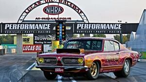 Mopar Muscle Car Hot Rod Racing Drag Racing Red Car Indianapolis 5437x3625 Wallpaper