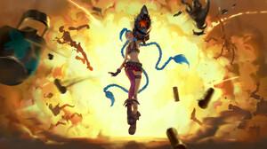 Explosion Jinx League Of Legends 2000x1080 Wallpaper