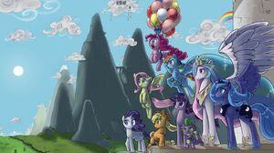 Applejack My Little Pony Fluttershy My Little Pony My Little Pony Pinkie Pie Princess Celestia Princ 1440x900 Wallpaper