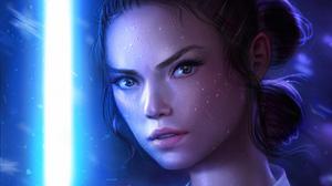 Rey Star Wars Face 3604x2027 Wallpaper