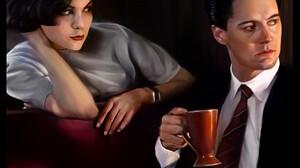 Lex Lockwood Artwork Looking Away Women Looking At The Side Men Digital Painting Dark Hair Sitting H 1920x2664 wallpaper