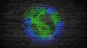 Earth Light Neon Sign Pixel 3840x2160 wallpaper