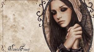 Artistic Girl Gothic Sad Woman 1920x1200 Wallpaper