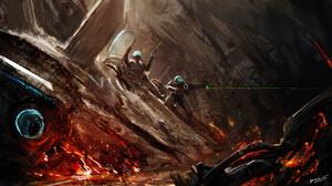Futuristic Warrior Weapon 3840x2160 wallpaper