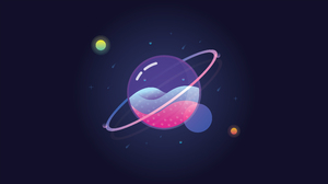 Glass Planet Universe Space Minimalism Digital Artwork Stars 3840x2160 Wallpaper
