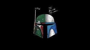 Minimalism Boba Fett Helmet Artwork Star Wars Star Wars Villains Bounty Hunter Simple Background Bla 1920x1080 Wallpaper