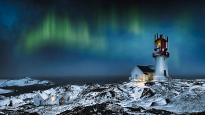 Sky Observatory Light Blue Aurora Bridge Aurora Collective Lighthouse 1920x1080 Wallpaper