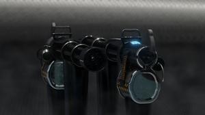 Weapon Military Prototype Heavy Metal Steel Lights Reflection 3D CGi Digital Digital Art 3840x2160 Wallpaper