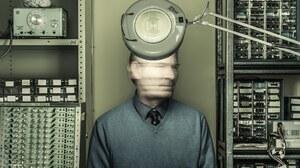 Men Face Blurred Portrait Display Electricity Oscilloscope Brain Shelves Science Audio Spectrum Moti 2000x2509 Wallpaper