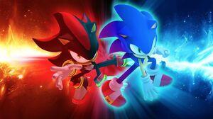 Shadow The Hedgehog Sonic The Hedgehog Red Blue 1920x1200 Wallpaper