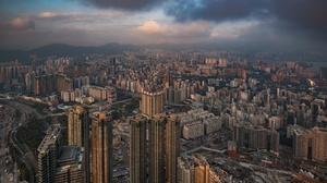 Cloud China City Building Cityscape Skyscraper 2048x1254 Wallpaper