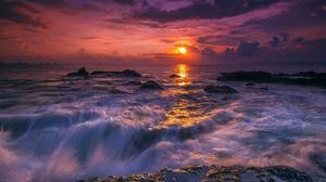 Sunset Sky Cloud Sea Horizon 2048x1367 Wallpaper