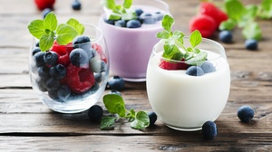 Berry Blueberry Fruit Raspberry Still Life Yogurt 4288x2848 Wallpaper