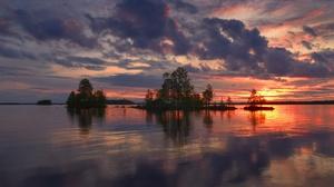 Cloud Tree Nature Lake Finland 2560x1708 Wallpaper
