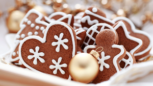 Christmas Christmas Ornaments Cookie Gingerbread 2560x1600 Wallpaper