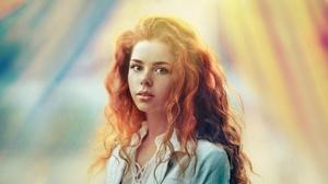Blue Eyes Girl Model Redhead Sunbeam Woman 1920x1080 Wallpaper