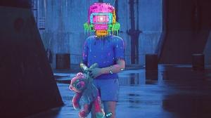 Child Cyberpunk Robot Teddy Bear Toy 1920x1280 Wallpaper
