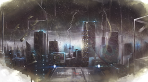 Building City Lightning Night Skyscraper Storm 3118x1585 Wallpaper