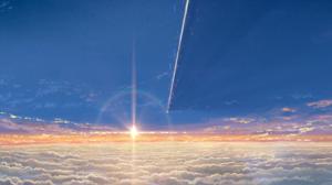 Cloud Comet Kimi No Na Wa Scenic Sky Sun Your Name 2560x1600 Wallpaper