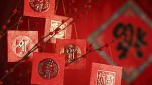 Chinese New Year Red Decoration 2716x1810 Wallpaper