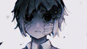 Bandage Basil Omori Boy Face Omori Video Game Tears 2048x1178 Wallpaper