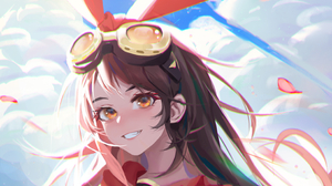Genshin Impact Amber Genshin Impact Anime Girls Cropped 2857x2141 wallpaper
