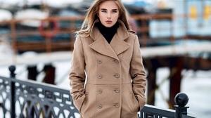 Blonde Model Women Luba Ivanova Sergey Sorokin Coats Hands In Pockets Long Hair Classy Balcony Raili 1280x816 Wallpaper