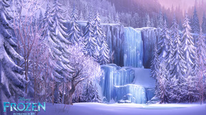 Waterfall Winter 1920x1200 wallpaper