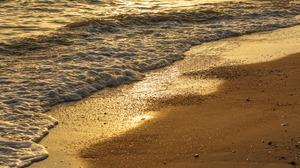 Beach Sand Sea Wave 2880x1800 Wallpaper