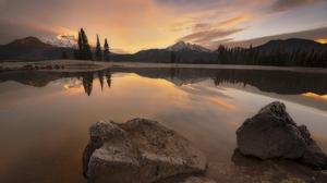 Cloud Forest Lake Landscape Mountain Nature Reflection Rock 2048x1163 Wallpaper