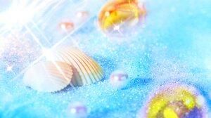 Beach Blue Pearl Shell Summer Tropical 1920x1200 Wallpaper