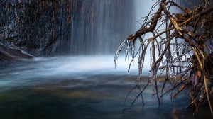 Cold Ice Waterfall Nature 2560x1600 Wallpaper