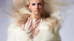 Woman Girl Blonde Green Eyes Long Hair 2500x2240 wallpaper