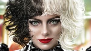 Ya Ar Vurdem Digital Art Digital Painting Artwork Painting Portrait Portrait Display Women Cruella C 3840x3840 wallpaper