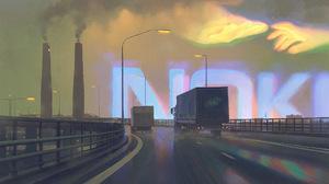 Simon Stalenhag Digital Art Vehicle Futuristic Artwork Road 2556x1570 Wallpaper