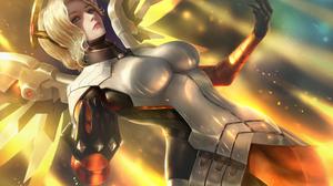 Overwatch Mercy Overwatch Artwork 3200x2154 wallpaper