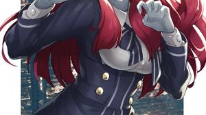 Zombieland Saga Anime Girls Vertical 2D Digital Art Fan Art Scars School Uniform Red Eyes Long Hair  1181x1748 Wallpaper