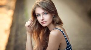 Woman Depth Of Field Blonde Green Eyes 2048x1365 Wallpaper