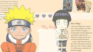 Naruto Shippuuden Uzumaki Naruto Hyuuga Hinata Chibi Text 1680x1050 Wallpaper