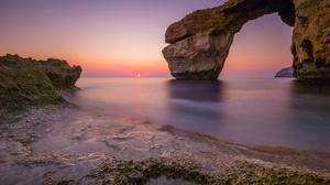 Arch Nature Horizon Sunset Ocean 2738x1825 Wallpaper